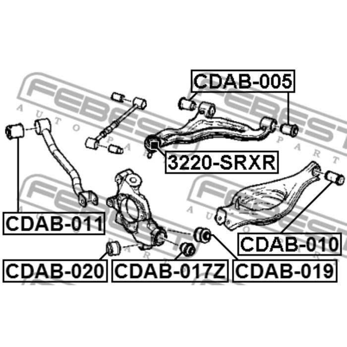 Сайлентблок задней тяги febest cdab-011 3434144