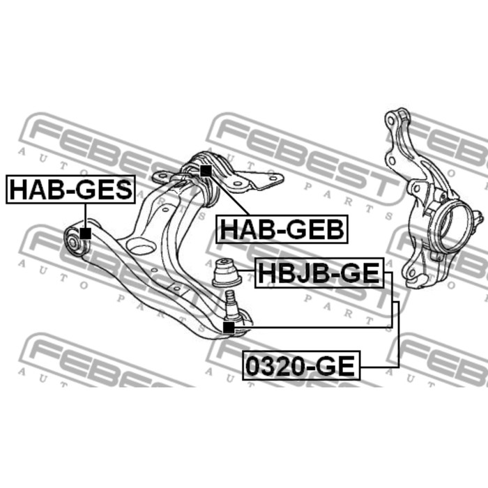 Сайлентблок передний переднего 3434958