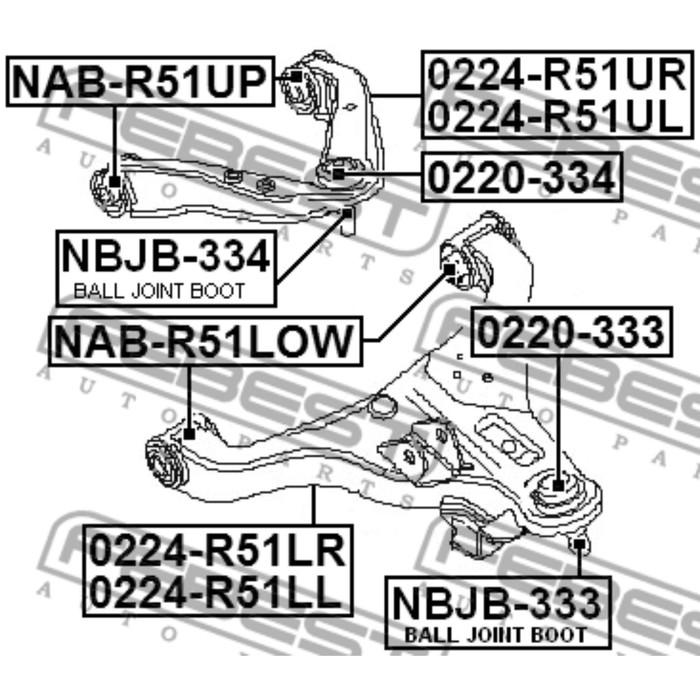 Сайлентблок переднего нижнего 3436896