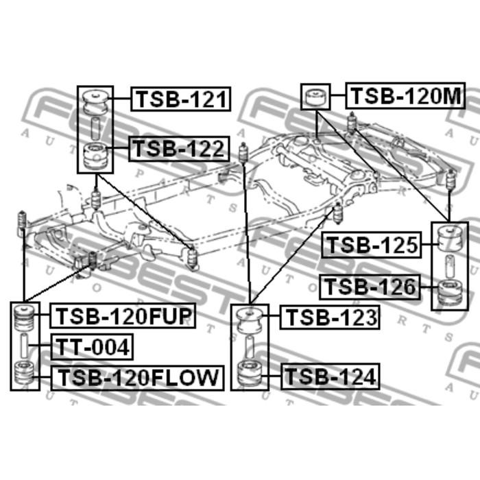 Подушка подрамника febest tsb-125 3438818