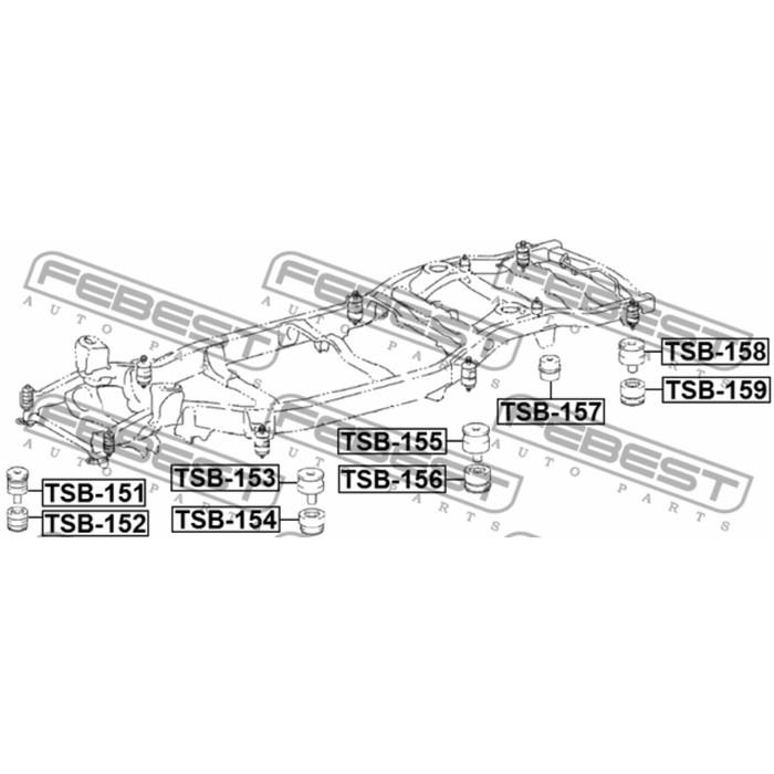 Подушка рамы febest tsb-152 3438826